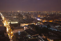 City lit up at dusk, Salta, Argentina by Panoramic Images