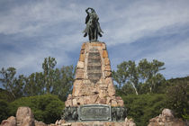 Low angle view of a monument, Guemes Monument, Salta, Argentina by Panoramic Images