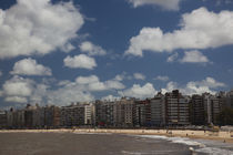 Apartments on the beach, Playa Pocitos, Pocitos, Montevideo, Uruguay von Panoramic Images