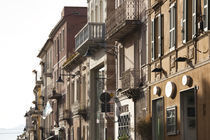 Buildings in a town, Corso Umberto, Olbia, Sardinia, Italy by Panoramic Images