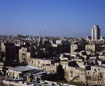 High angle view of a city, Damascus, Syria by Panoramic Images
