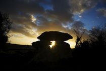 The Megalithic Knockeen Dolmen, Near Tramore, County Waterford, Ireland von Panoramic Images