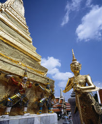Guardian Statues Wat Phra Kaeo around Golden Chedi by Panoramic Images