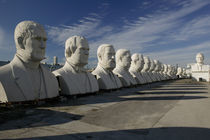 Busts of US presidents on display in a park, Houston, Texas, USA by Panoramic Images