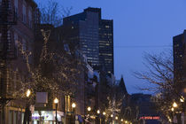 Buildings in a city, Hanover Street, North End, Boston, Massachusetts, USA by Panoramic Images