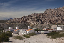 Houses on a hill, Angastaco, Calchaqui Valleys, Salta Province, Argentina by Panoramic Images