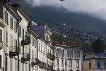 Buildings in a city, Piazza Grande, Locarno, Lake Maggiore, Ticino, Switzerland by Panoramic Images