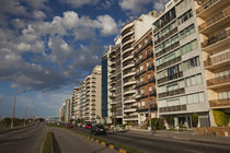 Apartments along a road, Rambla Mahatma Gandhi, Montevideo, Uruguay by Panoramic Images