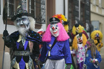 People in costumes, Fasnacht Festival, Basel, Switzerland by Panoramic Images