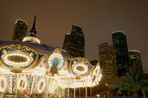 Carousel lit up at night, Houston, Texas, USA von Panoramic Images