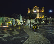 Buildings lit up at night, Terreiro de Jesus, Pelourinho, Salvador, Brazil von Panoramic Images