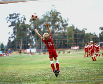 Children Playing Soccer by Panoramic Images