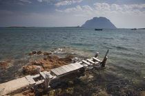 Pier in the sea, Tavolara Island, Porto San Paolo, Sardinia, Italy by Panoramic Images