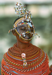 Portrait of a teenage girl smiling, Kenya by Panoramic Images