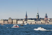 Buildings at the waterfront, Gamla Stan, Stockholm, Sweden by Panoramic Images