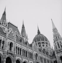 Low angle view of a government building, Parliament Building, Budapest, Hungary by Panoramic Images