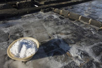 Bowl of salt in a salt pond, Tamarin, Black River District, Mauritius by Panoramic Images