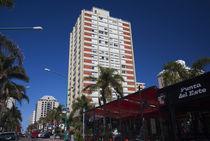 Buildings in a city, Avenida Juan Gorlero, Punta Del Este, Maldonado, Uruguay by Panoramic Images