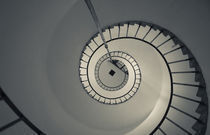 Spiral staircase in a lighthouse by Panoramic Images