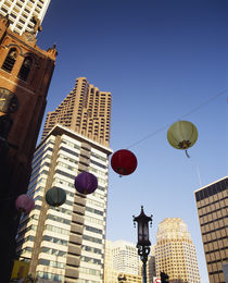 Low angle view of buildings, Chinatown, San Francisco, California, USA by Panoramic Images