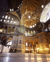 Interiors of a museum, Aya Sofya, Istanbul, Turkey von Panoramic Images