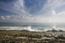 Waves breaking on the beach, North East Point, Mahe Island, Seychelles by Panoramic Images