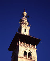 Low angle view of a minaret of a mosque, Syria by Panoramic Images