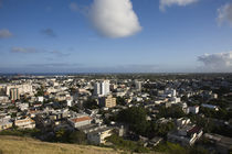 High angle view of a city, Port Louis, Mauritius von Panoramic Images
