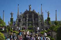 Tourists at terraced gardens by Panoramic Images