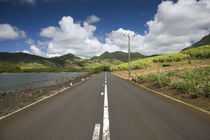 Highway at a coast, Grand Sable, Mauritius von Panoramic Images
