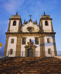 Low angle view of a cathedral, Congonhas, Minas Gerais, Brazil von Panoramic Images