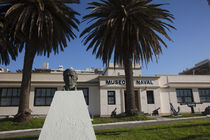 Statue in front of a museum, Naval Museum, Pocitos, Montevideo, Uruguay von Panoramic Images