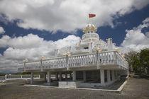 Facade of a Hindu temple, Sagar Shiv Mandir, Poste De Flacq, Mauritius by Panoramic Images