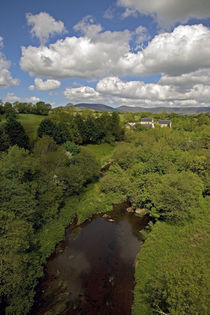 View from Railway Viaduct, Near Stradbally, County Waterford, Ireland von Panoramic Images