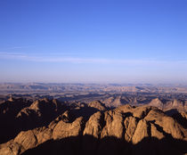 High angle view of a mountain range, Mt Sinai, Sinai Peninsula, Egypt by Panoramic Images