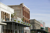 Buildings along the strand, Galveston, Texas, USA von Panoramic Images