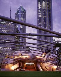 USA, Illinois, Chicago, Millennium Park, Pritzker Pavilion, Outdoor amphitheater by Panoramic Images