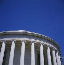 Low angle view of a building, Jefferson Memorial, Washington DC, USA von Panoramic Images