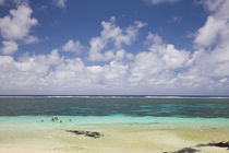 Clouds over the sea, Belle Mare, Mauritius von Panoramic Images