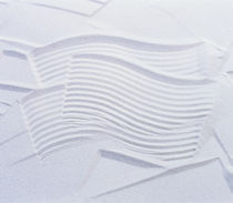 Textured white plaster background von Panoramic Images
