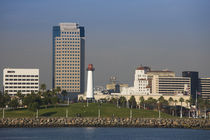 City viewed from a port, Long Beach, Los Angeles County, California, USA by Panoramic Images