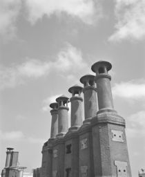 Low angle view of chimneys, Buenos Aires, Argentina von Panoramic Images