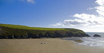 Riders on Stradbally Strand, the Copper Coast, County Waterford, Ireland von Panoramic Images