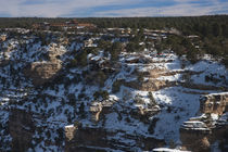 High angle view of South Rim and El Tovar Hotel von Panoramic Images