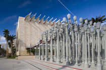 BP entrance with Urban Lights sculptures in an art museum von Panoramic Images