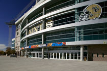 Low angle view of a sports stadium, Alamodome, San Antonio, Texas, USA von Panoramic Images