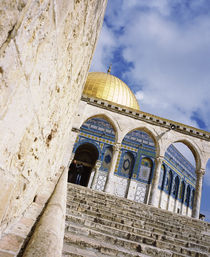 Low angle view of a mosque, Dome Of The Rock, Jerusalem, Israel von Panoramic Images