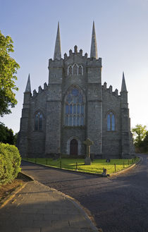 Downpatrick Cathedral and 10th Century High Cross by Panoramic Images