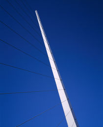 Low angle view of suspension of a bridge by Panoramic Images