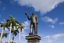 Statue of Sir Seewoosagur Ramgoolam, Caudan Waterfront, Port Louis, Mauritius von Panoramic Images
